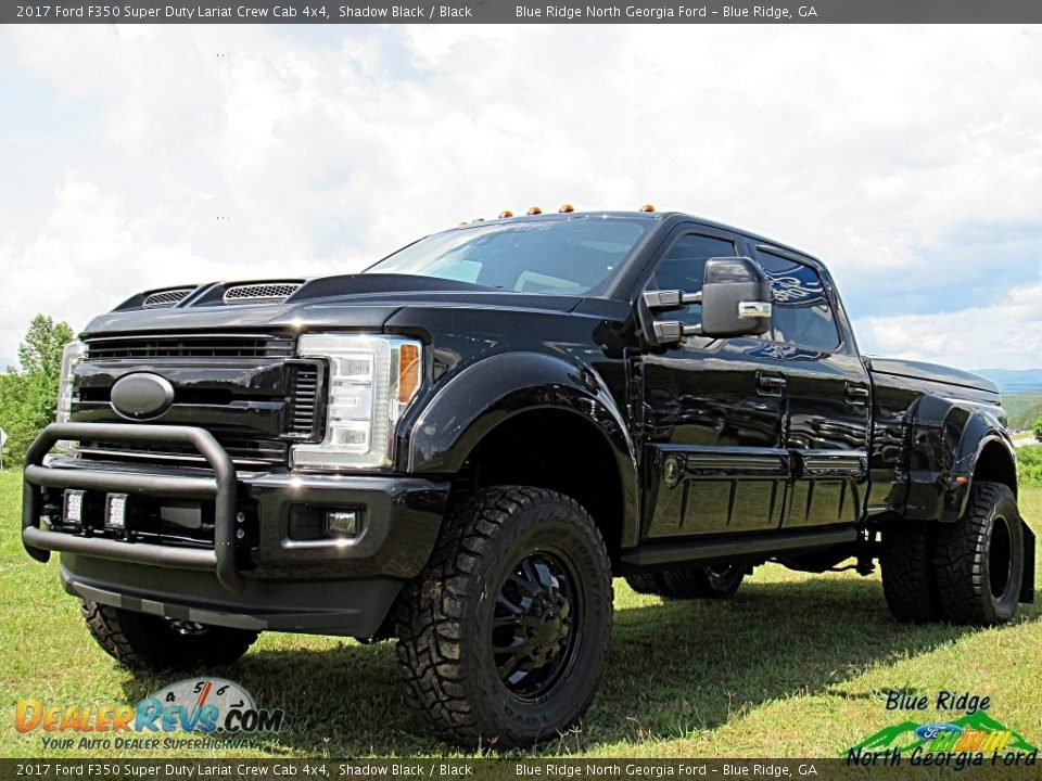 2017 Ford F350 Super Duty Lariat Crew Cab 4x4 Shadow Black / Black Photo #7