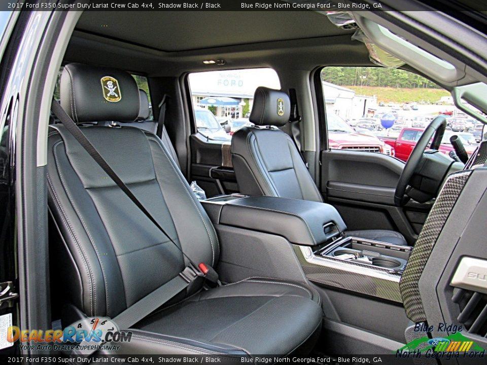 2017 Ford F350 Super Duty Lariat Crew Cab 4x4 Shadow Black / Black Photo #11