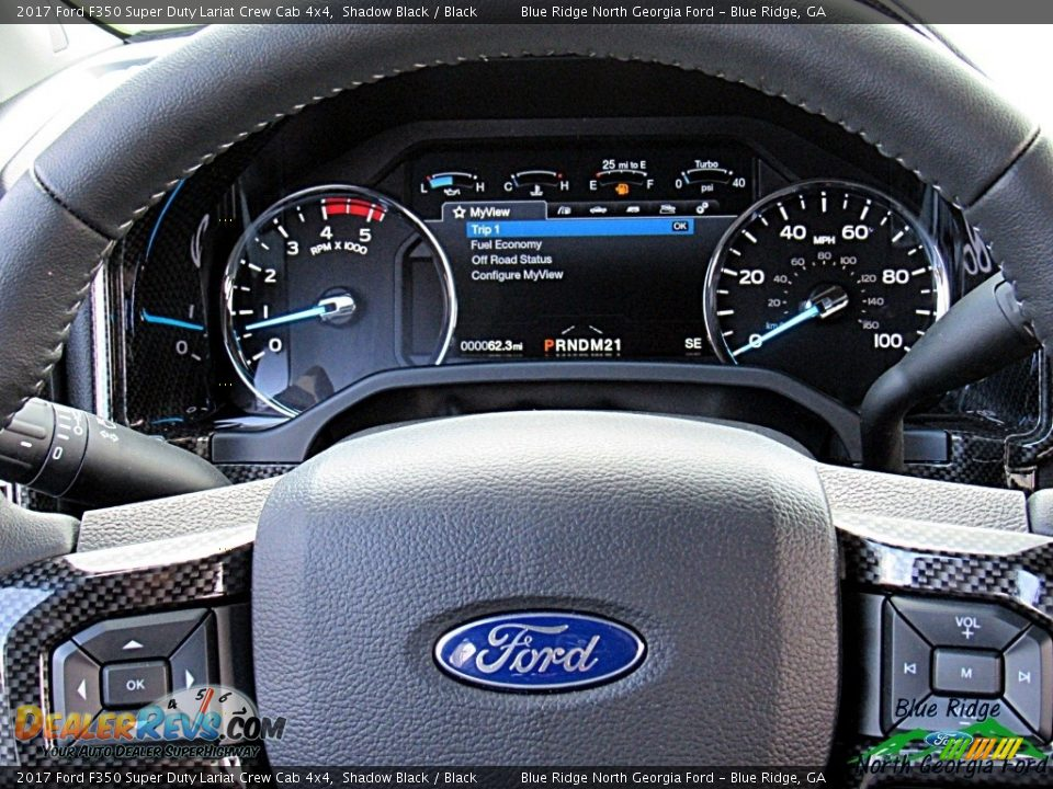 2017 Ford F350 Super Duty Lariat Crew Cab 4x4 Shadow Black / Black Photo #17