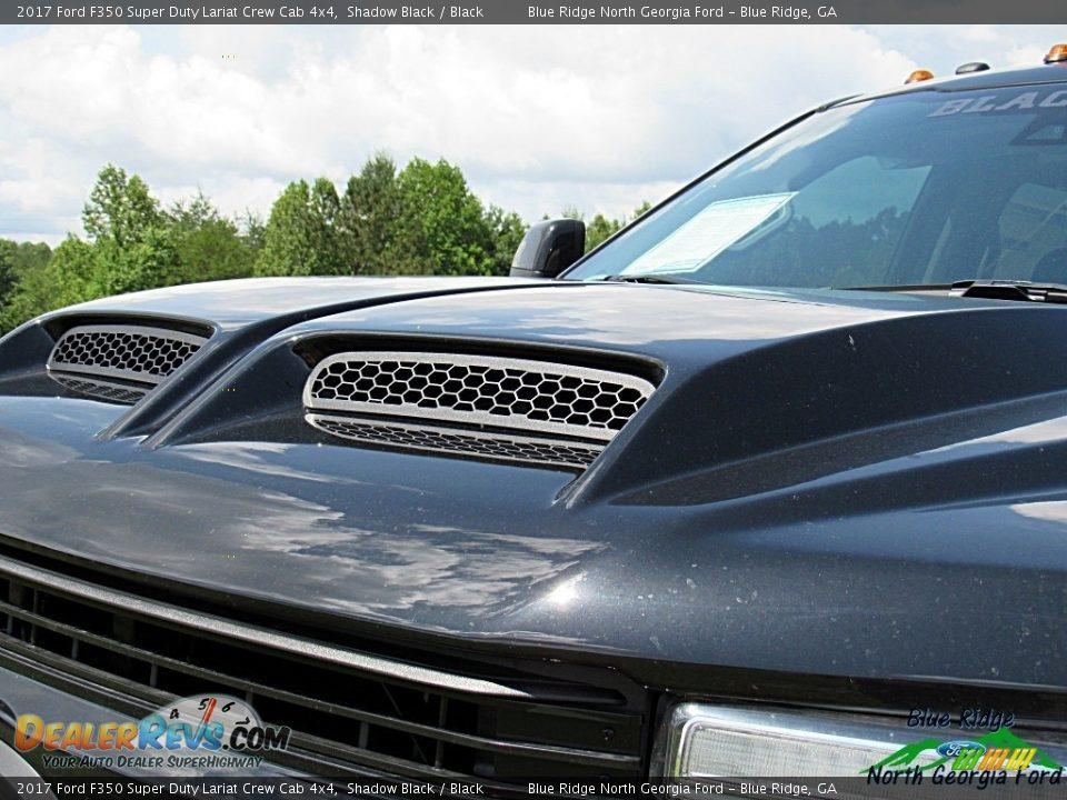 2017 Ford F350 Super Duty Lariat Crew Cab 4x4 Shadow Black / Black Photo #32