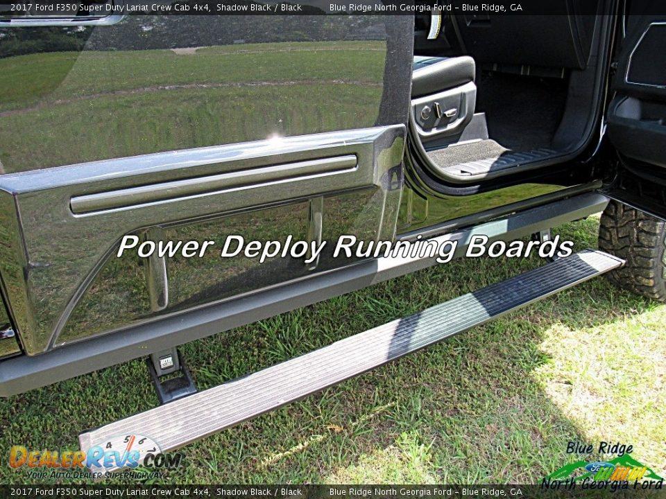 2017 Ford F350 Super Duty Lariat Crew Cab 4x4 Shadow Black / Black Photo #34