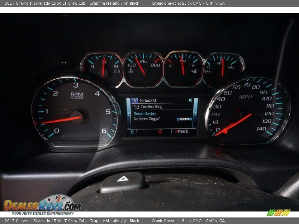 2017 Chevrolet Silverado 1500 LT Crew Cab Graphite Metallic / Jet Black Photo #13