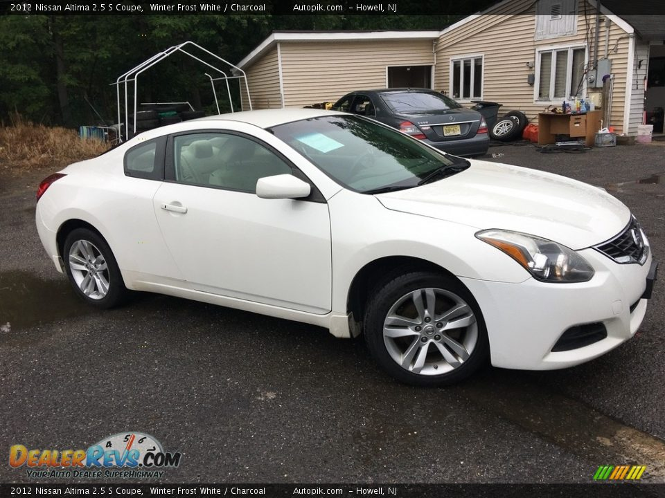 2012 Nissan Altima 2.5 S Coupe Winter Frost White / Charcoal Photo #2