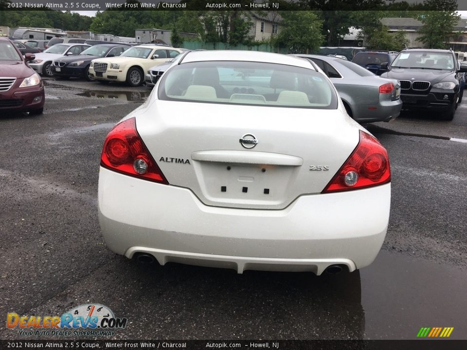 2012 Nissan Altima 2.5 S Coupe Winter Frost White / Charcoal Photo #5