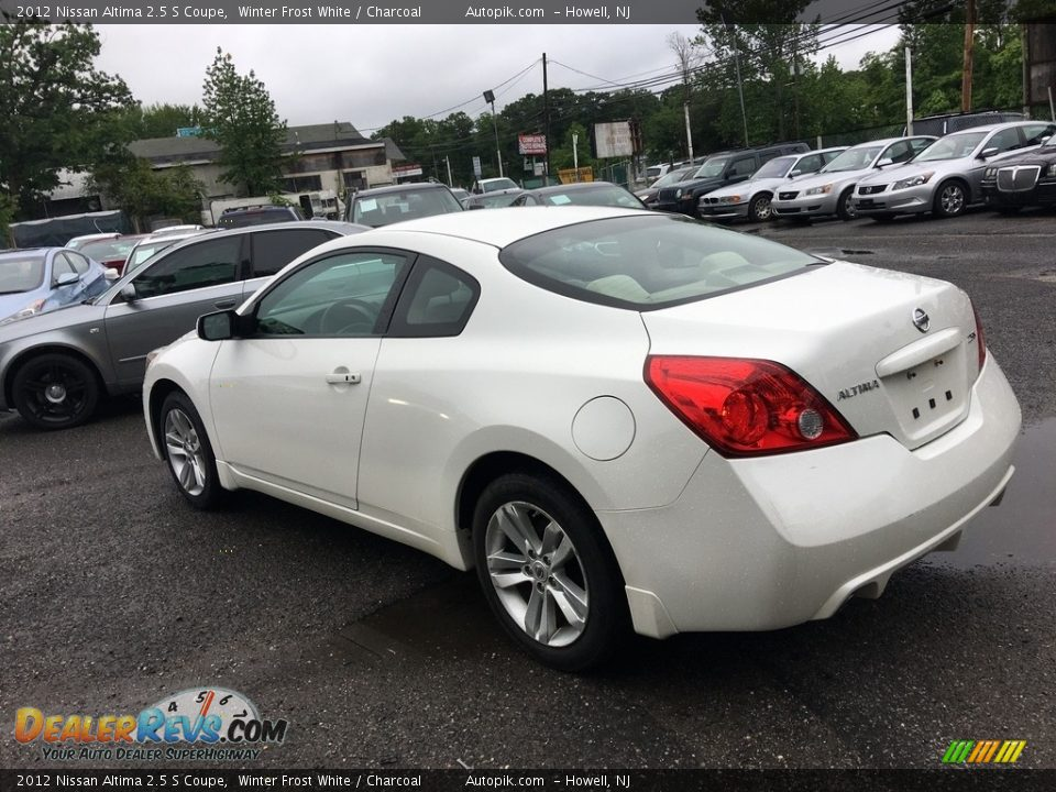 2012 Nissan Altima 2.5 S Coupe Winter Frost White / Charcoal Photo #6