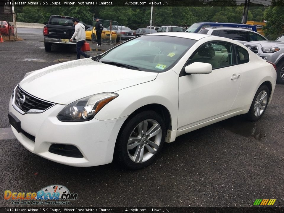 2012 Nissan Altima 2.5 S Coupe Winter Frost White / Charcoal Photo #8