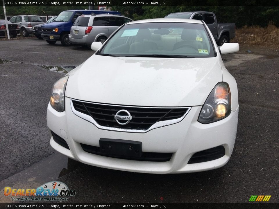 2012 Nissan Altima 2.5 S Coupe Winter Frost White / Charcoal Photo #9