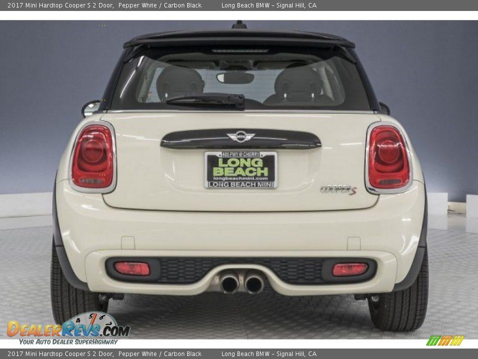 2017 Mini Hardtop Cooper S 2 Door Pepper White / Carbon Black Photo #2