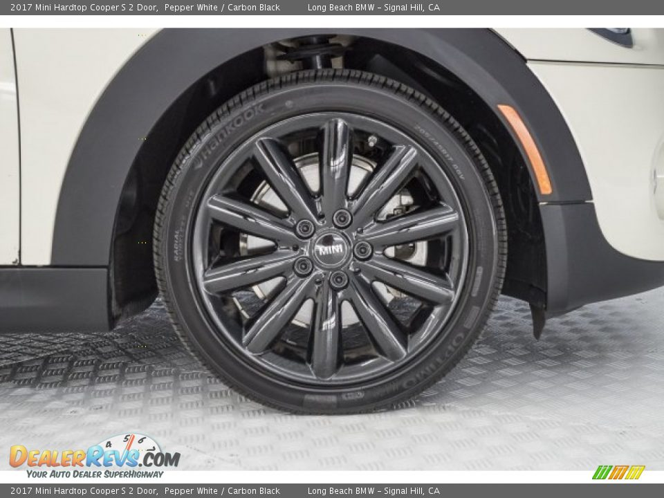 2017 Mini Hardtop Cooper S 2 Door Pepper White / Carbon Black Photo #8