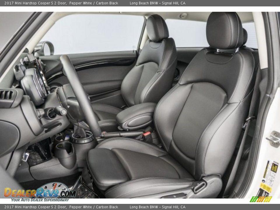 2017 Mini Hardtop Cooper S 2 Door Pepper White / Carbon Black Photo #28