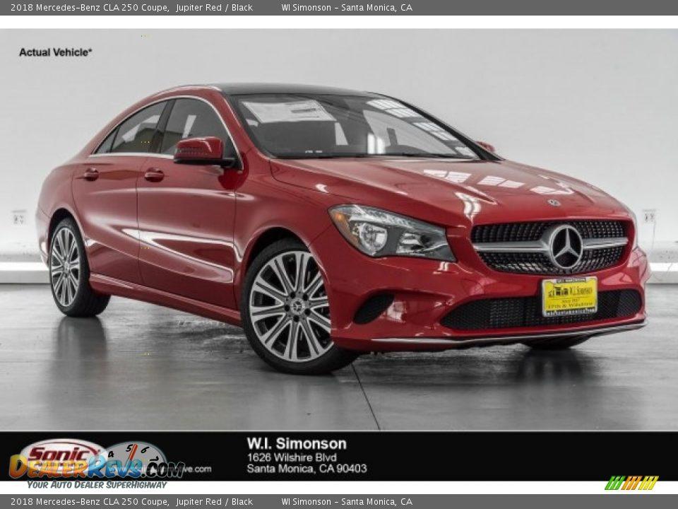 2018 Mercedes-Benz CLA 250 Coupe Jupiter Red / Black Photo #1