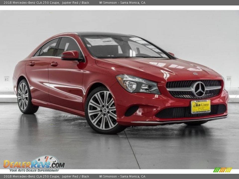 2018 Mercedes-Benz CLA 250 Coupe Jupiter Red / Black Photo #12