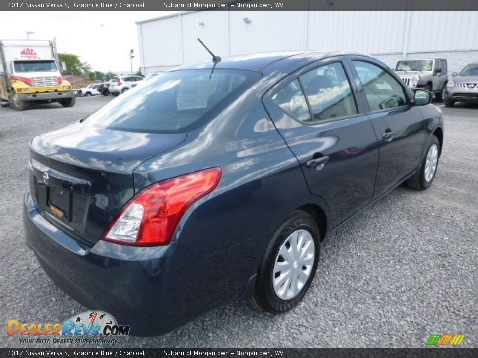 2017 Nissan Versa S Graphite Blue / Charcoal Photo #4