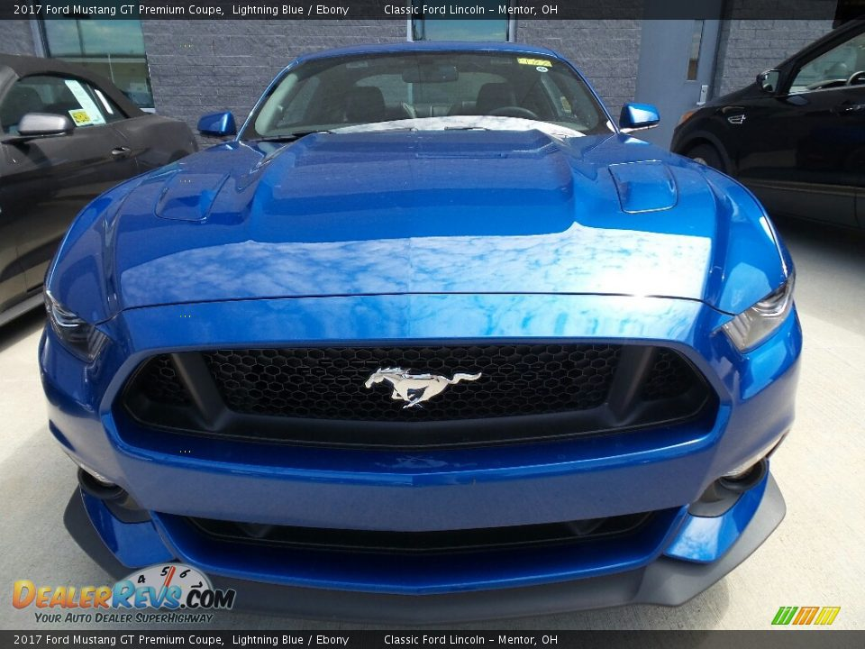 2017 Ford Mustang GT Premium Coupe Lightning Blue / Ebony Photo #2