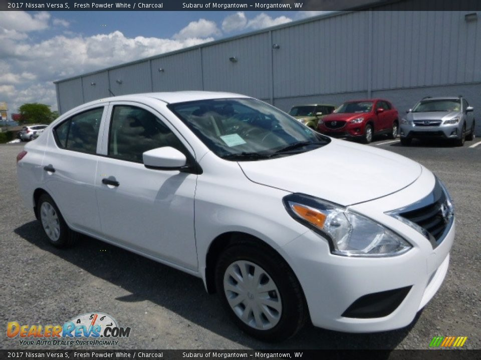 2017 Nissan Versa S Fresh Powder White / Charcoal Photo #1