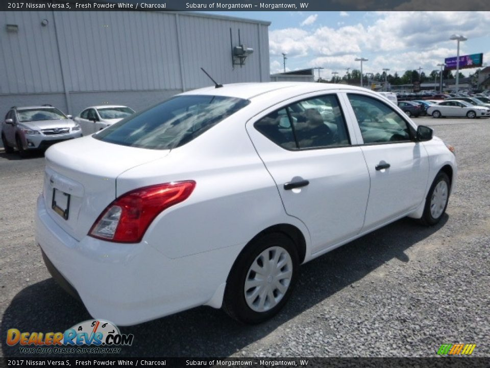 2017 Nissan Versa S Fresh Powder White / Charcoal Photo #4