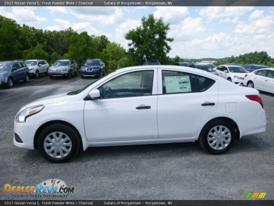 2017 Nissan Versa S Fresh Powder White / Charcoal Photo #7