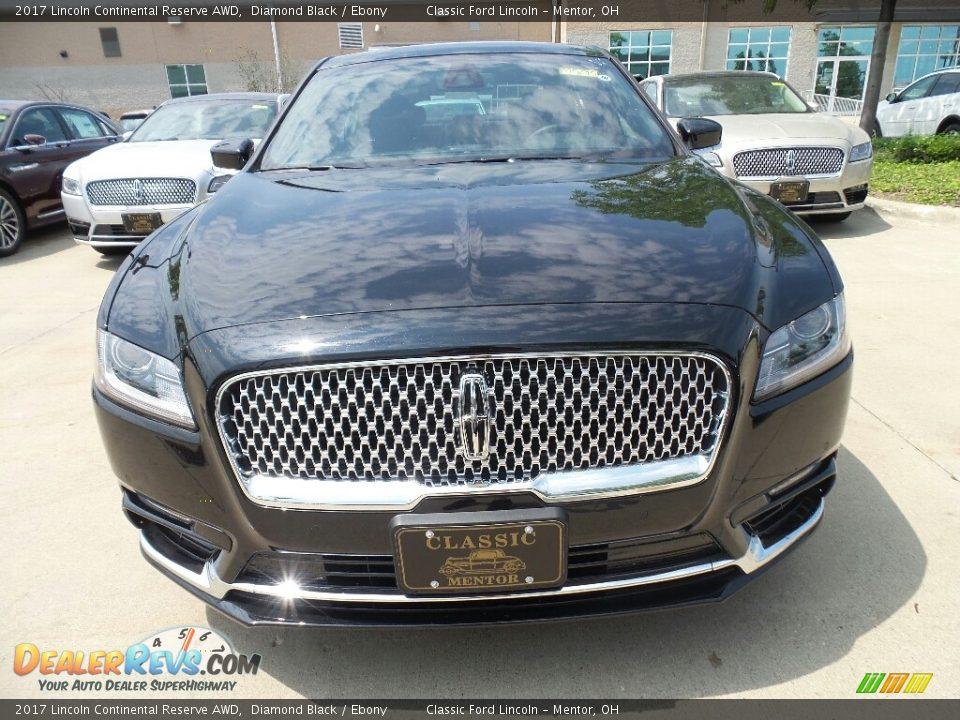2017 Lincoln Continental Reserve AWD Diamond Black / Ebony Photo #2