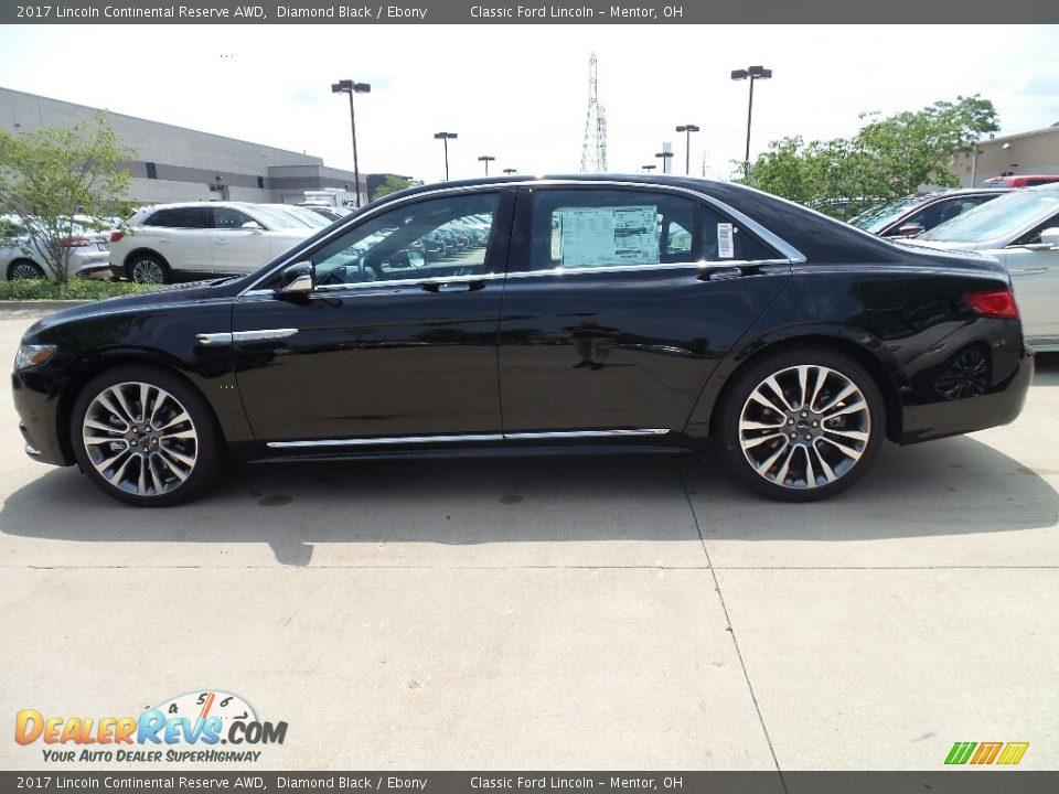 2017 Lincoln Continental Reserve AWD Diamond Black / Ebony Photo #3