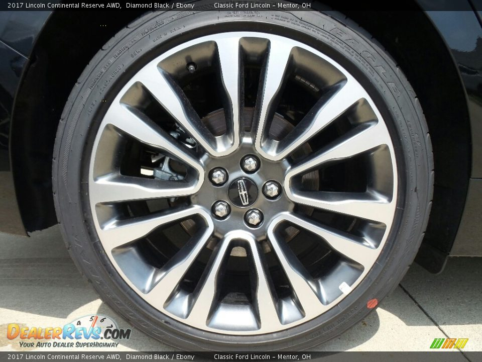 2017 Lincoln Continental Reserve AWD Diamond Black / Ebony Photo #10