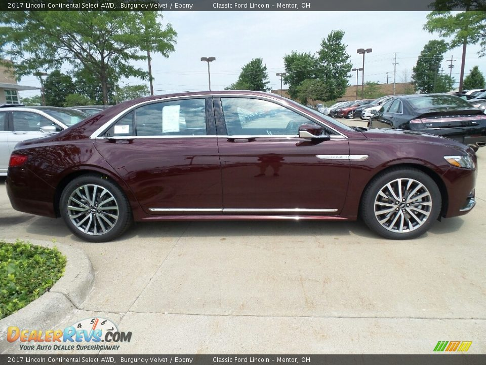 Burgundy Velvet 2017 Lincoln Continental Select AWD Photo #3