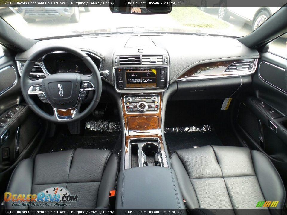 Ebony Interior - 2017 Lincoln Continental Select AWD Photo #6