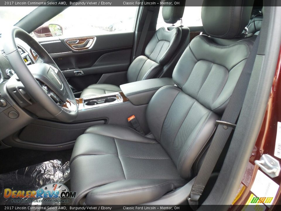 Front Seat of 2017 Lincoln Continental Select AWD Photo #8