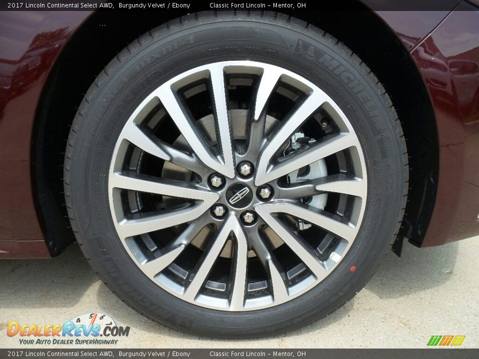 2017 Lincoln Continental Select AWD Wheel Photo #11