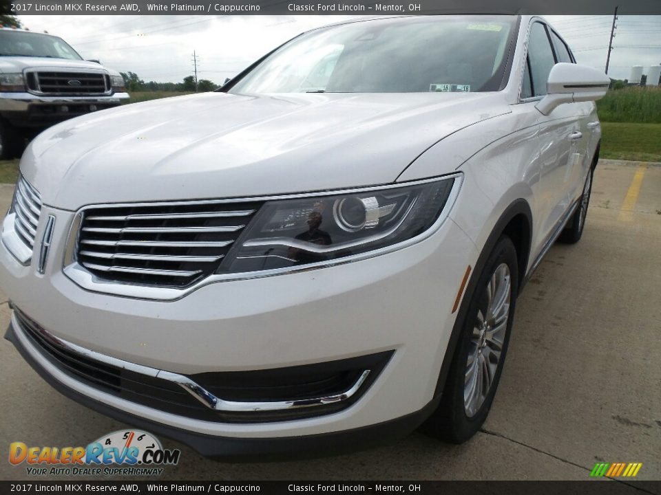2017 Lincoln MKX Reserve AWD White Platinum / Cappuccino Photo #1