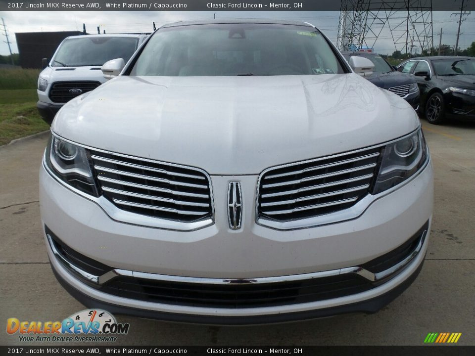 2017 Lincoln MKX Reserve AWD White Platinum / Cappuccino Photo #2