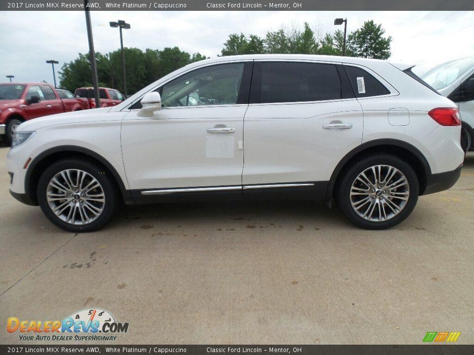 2017 Lincoln MKX Reserve AWD White Platinum / Cappuccino Photo #3