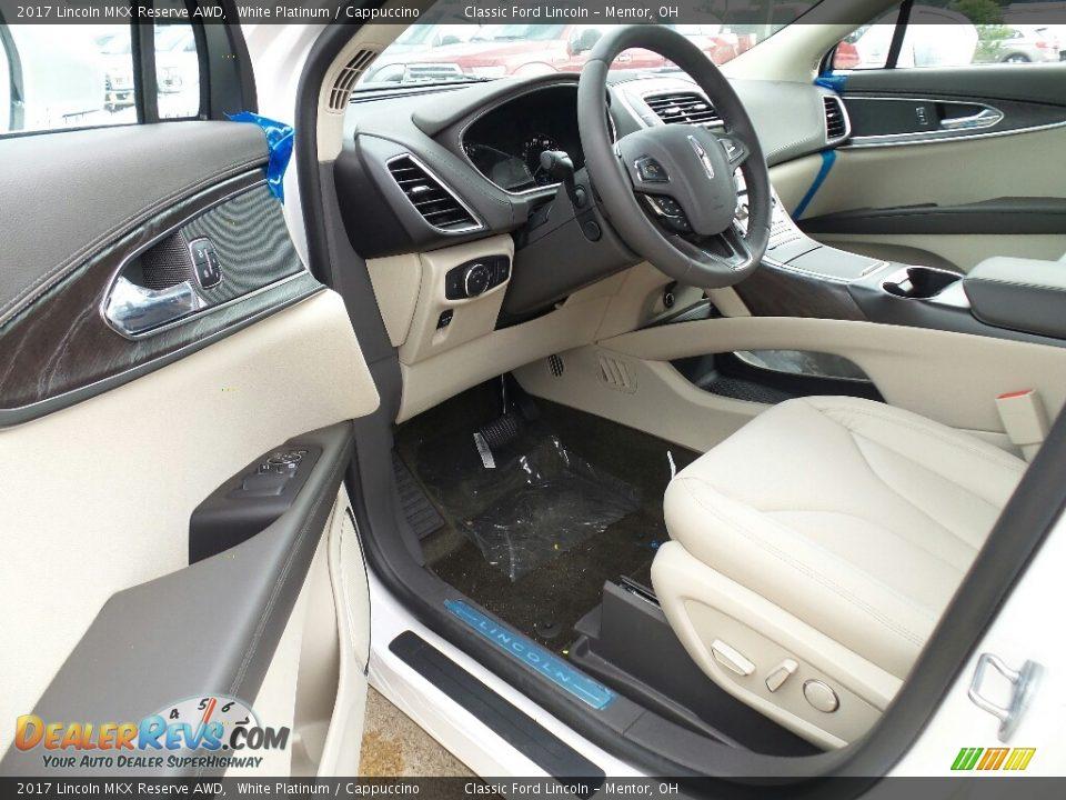 2017 Lincoln MKX Reserve AWD White Platinum / Cappuccino Photo #5