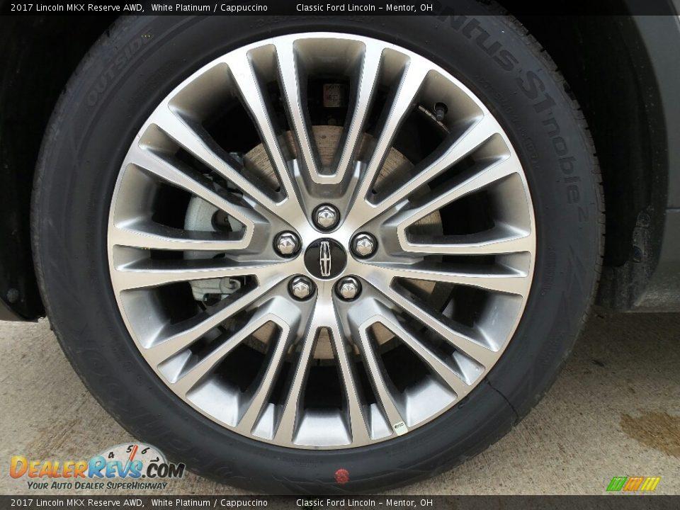 2017 Lincoln MKX Reserve AWD White Platinum / Cappuccino Photo #8