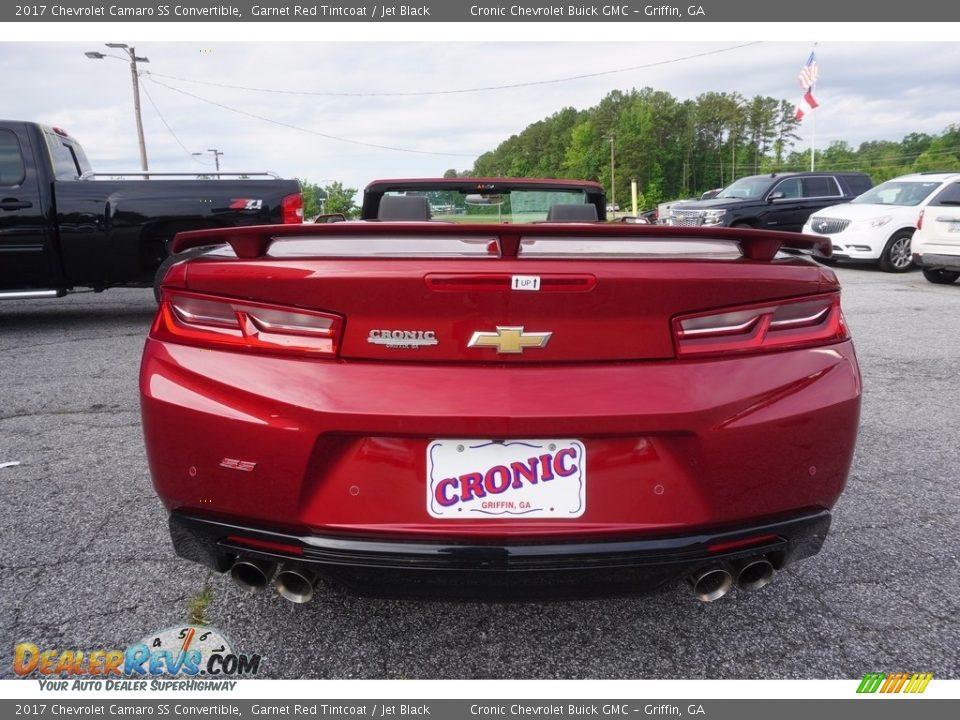 2017 Chevrolet Camaro SS Convertible Garnet Red Tintcoat / Jet Black Photo #5