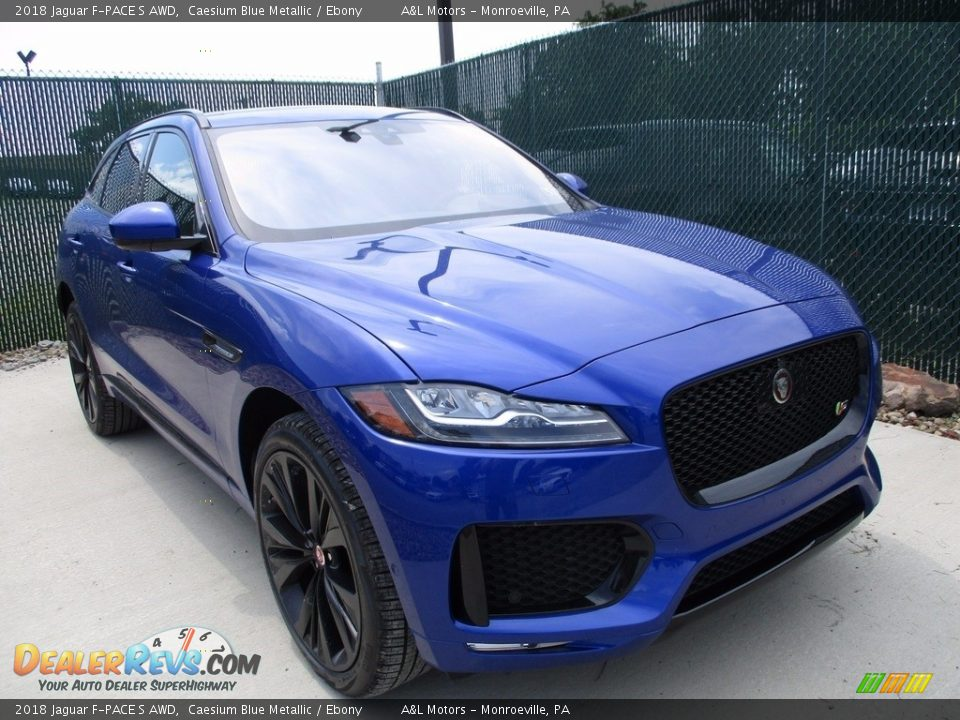 Caesium Blue Metallic 2018 Jaguar F-PACE S AWD Photo #7