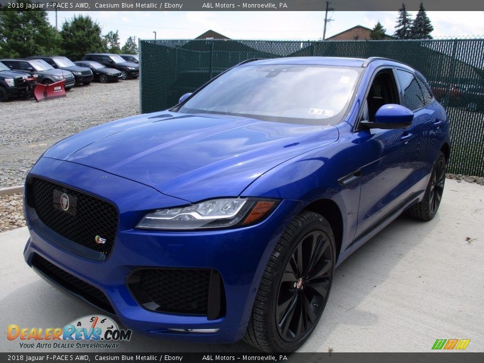 2018 Jaguar F-PACE S AWD Caesium Blue Metallic / Ebony Photo #9