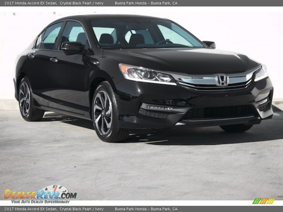 2017 Honda Accord EX Sedan Crystal Black Pearl / Ivory Photo #1