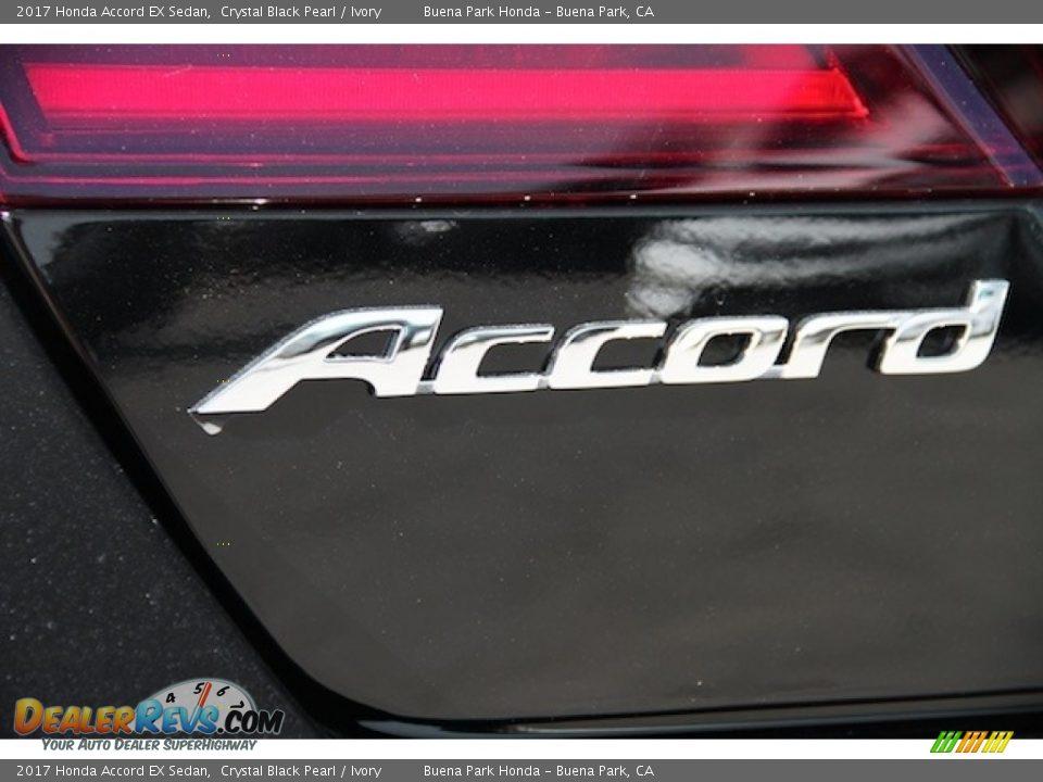 2017 Honda Accord EX Sedan Crystal Black Pearl / Ivory Photo #3