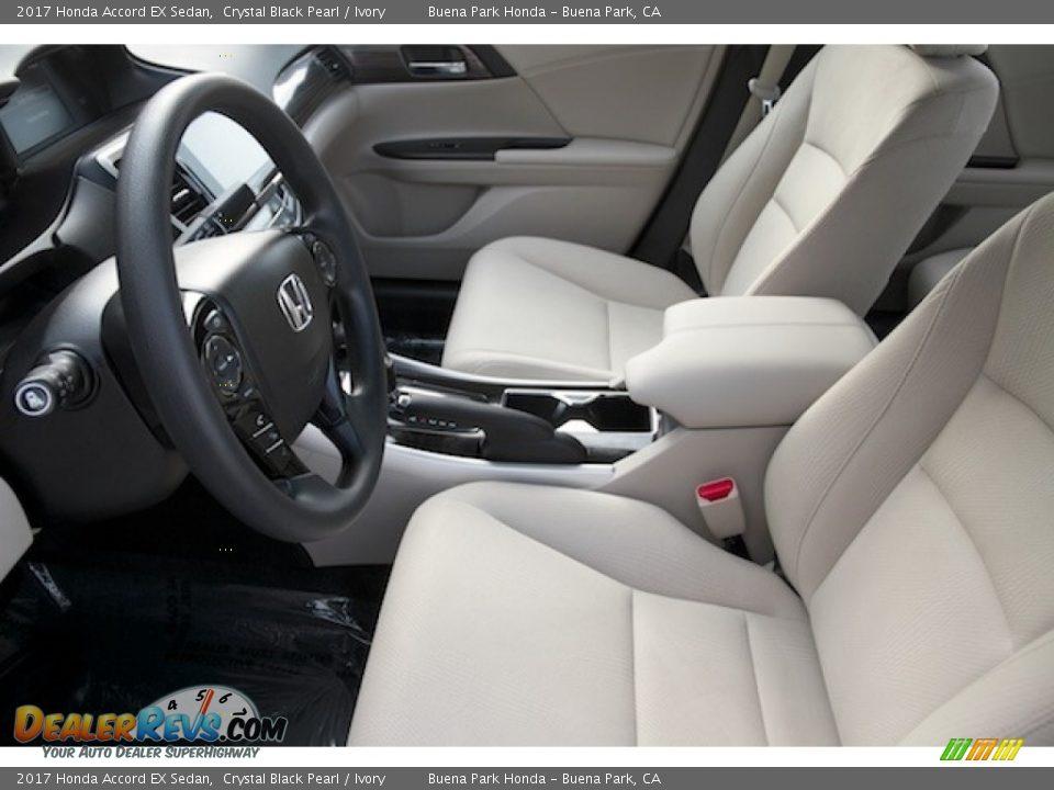 2017 Honda Accord EX Sedan Crystal Black Pearl / Ivory Photo #9