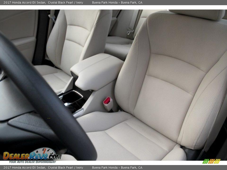 2017 Honda Accord EX Sedan Crystal Black Pearl / Ivory Photo #11