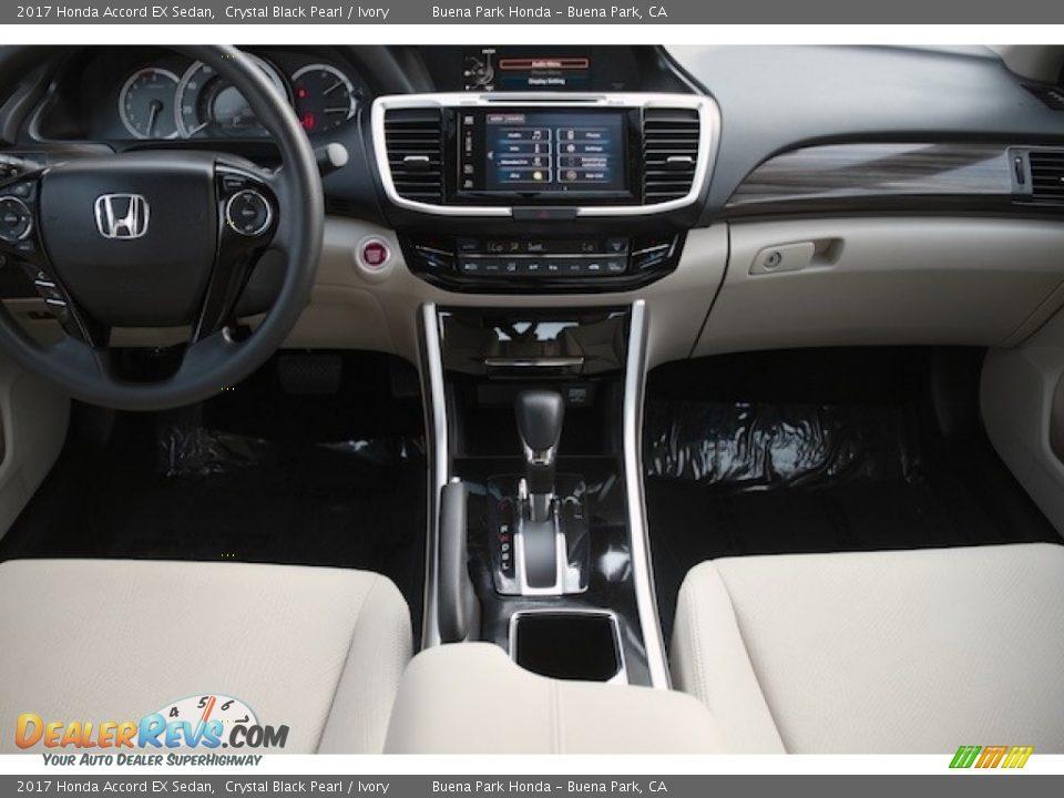 2017 Honda Accord EX Sedan Crystal Black Pearl / Ivory Photo #13