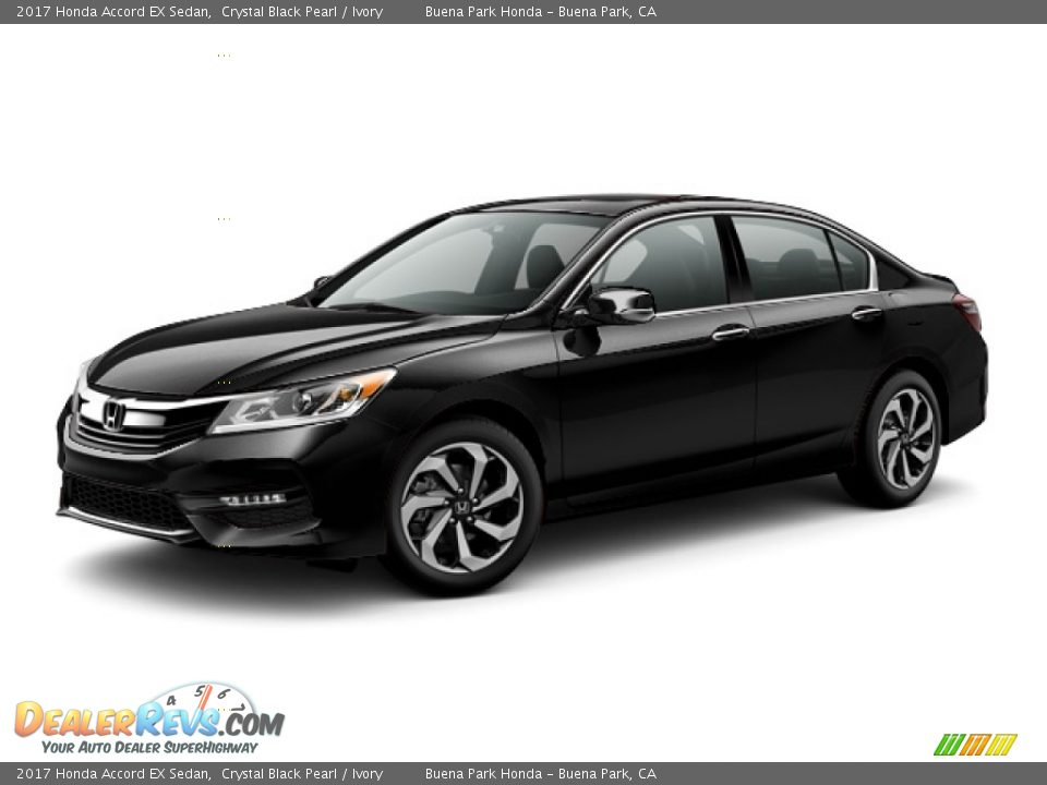 2017 Honda Accord EX Sedan Crystal Black Pearl / Ivory Photo #20