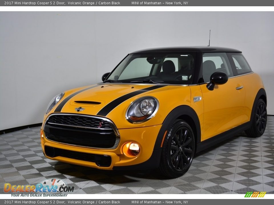 2017 Mini Hardtop Cooper S 2 Door Volcanic Orange / Carbon Black Photo #1