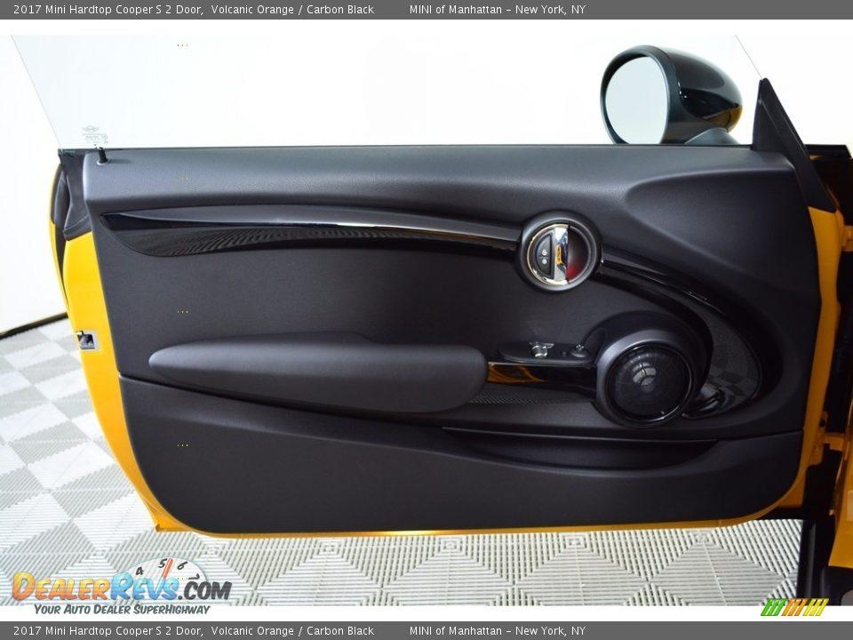2017 Mini Hardtop Cooper S 2 Door Volcanic Orange / Carbon Black Photo #6