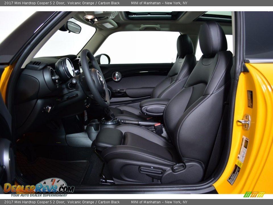 2017 Mini Hardtop Cooper S 2 Door Volcanic Orange / Carbon Black Photo #9