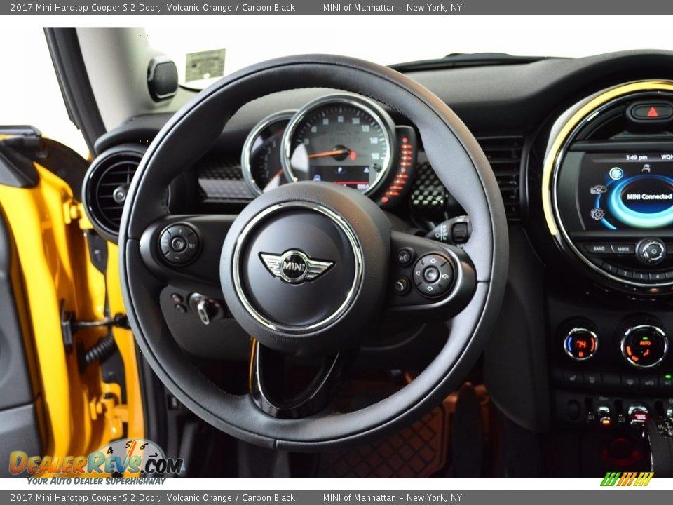 2017 Mini Hardtop Cooper S 2 Door Volcanic Orange / Carbon Black Photo #14