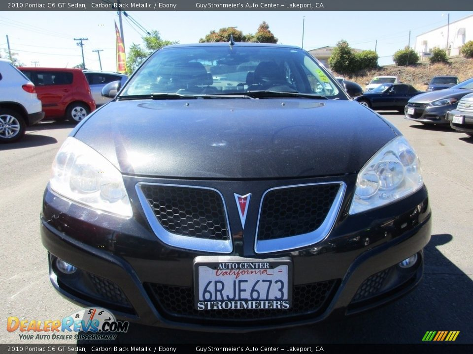 2010 Pontiac G6 GT Sedan Carbon Black Metallic / Ebony Photo #2