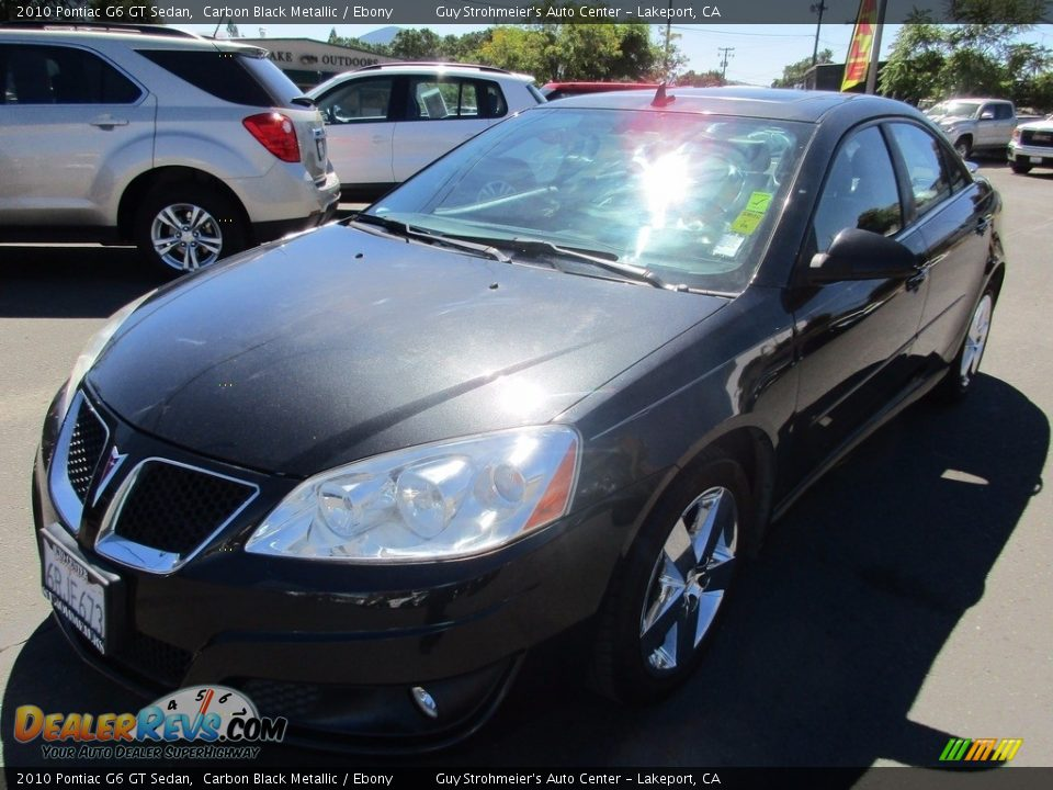 2010 Pontiac G6 GT Sedan Carbon Black Metallic / Ebony Photo #3