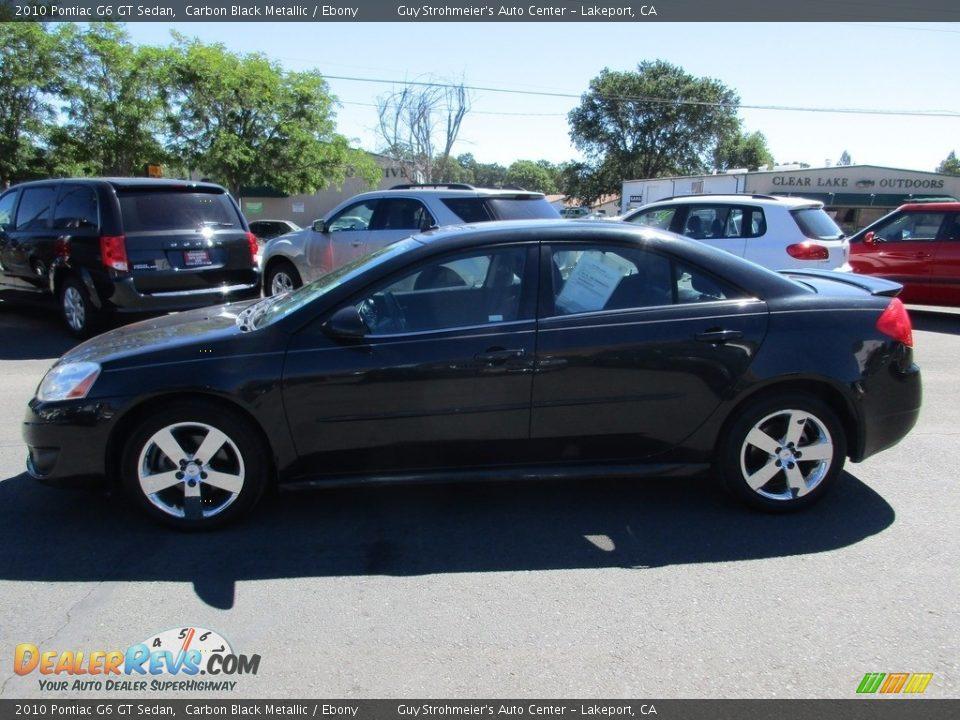2010 Pontiac G6 GT Sedan Carbon Black Metallic / Ebony Photo #4