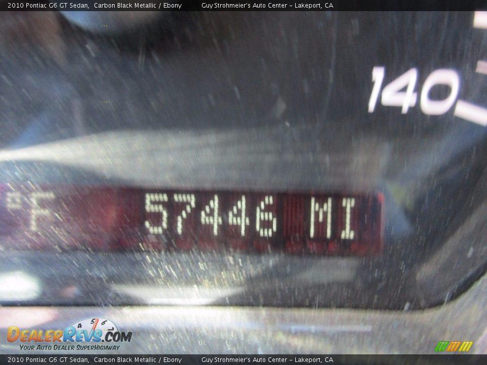 2010 Pontiac G6 GT Sedan Carbon Black Metallic / Ebony Photo #9